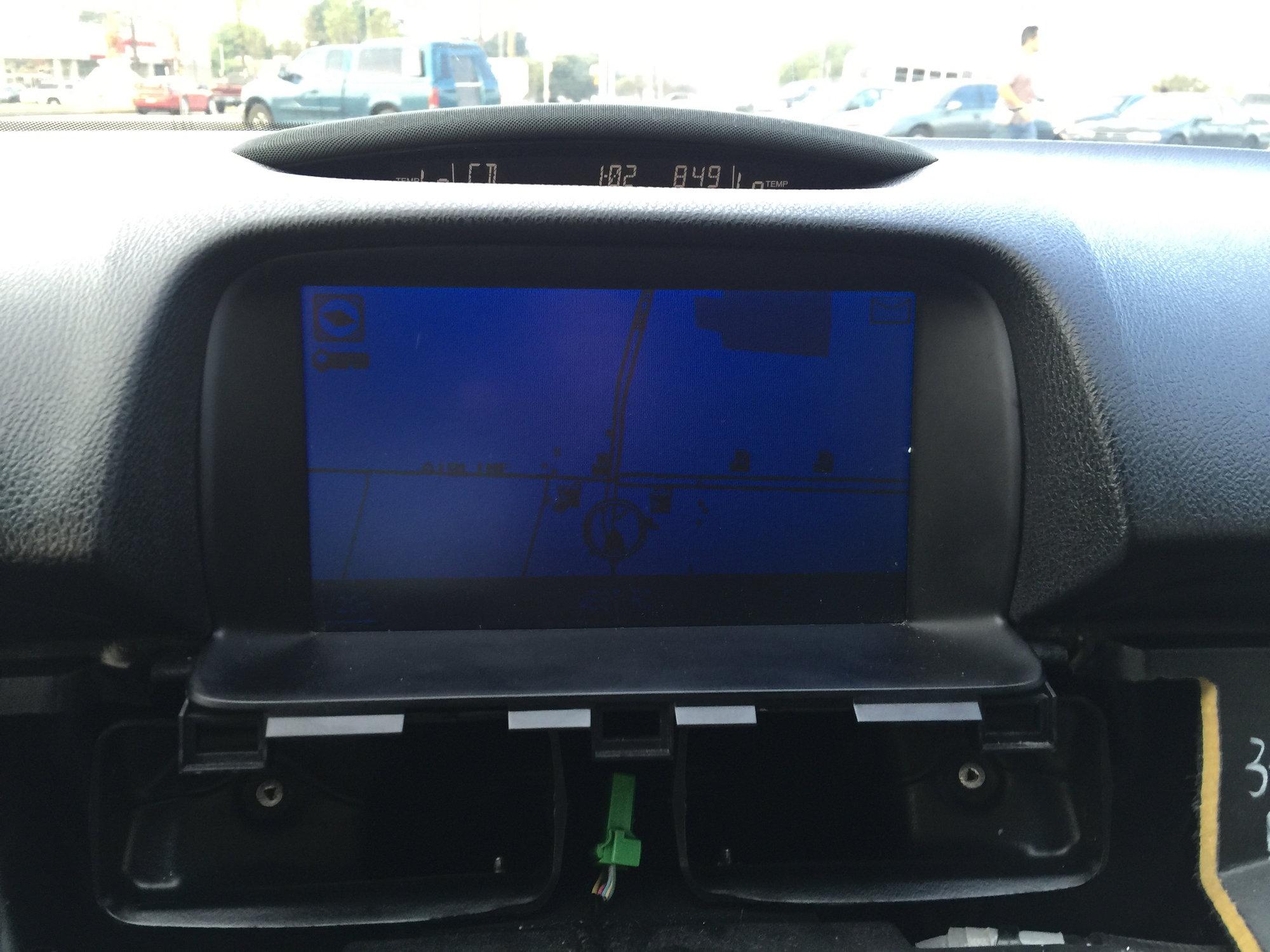 2005 acura tl navigation screen black