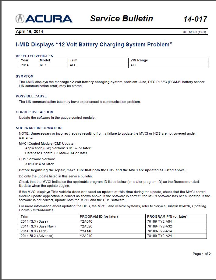 Warning 12 Volt Charging System Problem