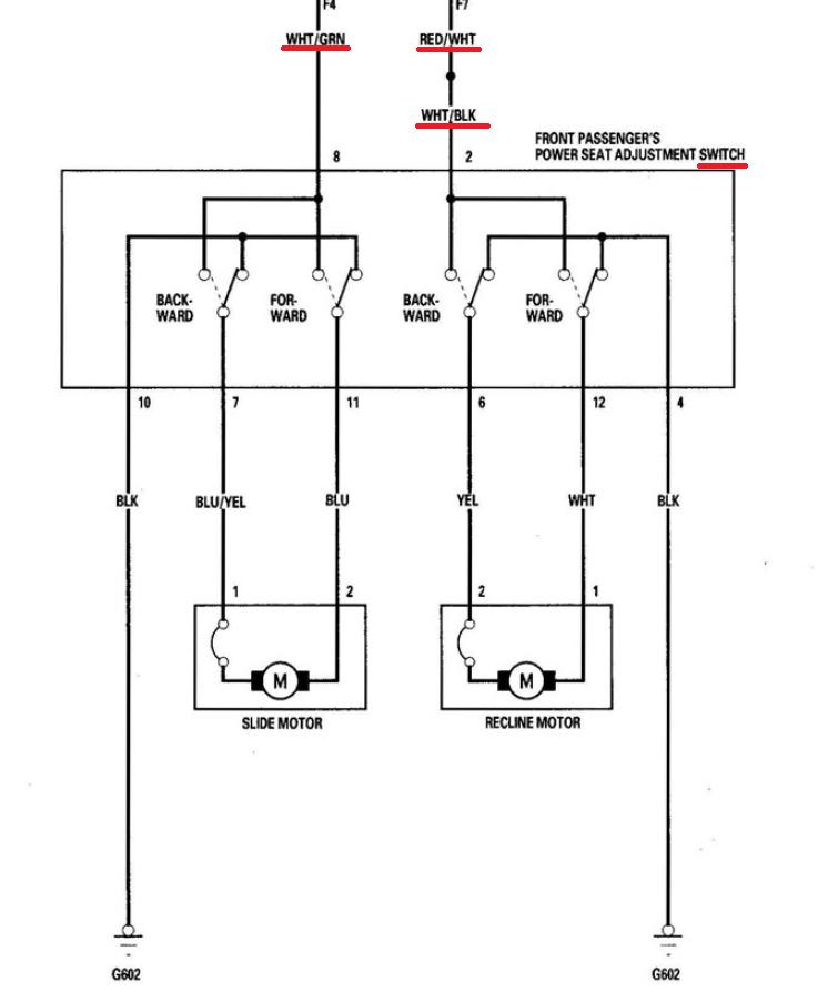 Manual to power seats - AcuraZine - Acura Enthusiast Community | Acura Seat Wiring Diagram |  | AcuraZine