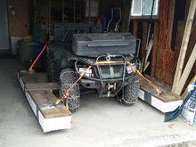 ATV with styrofoam pontoons