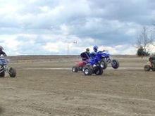 Danita races some guys at St Joes