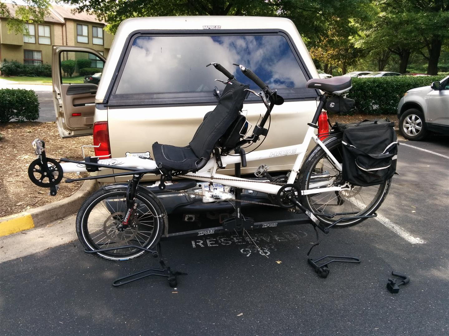 rack bike hitch xport tandem mounted never many performance