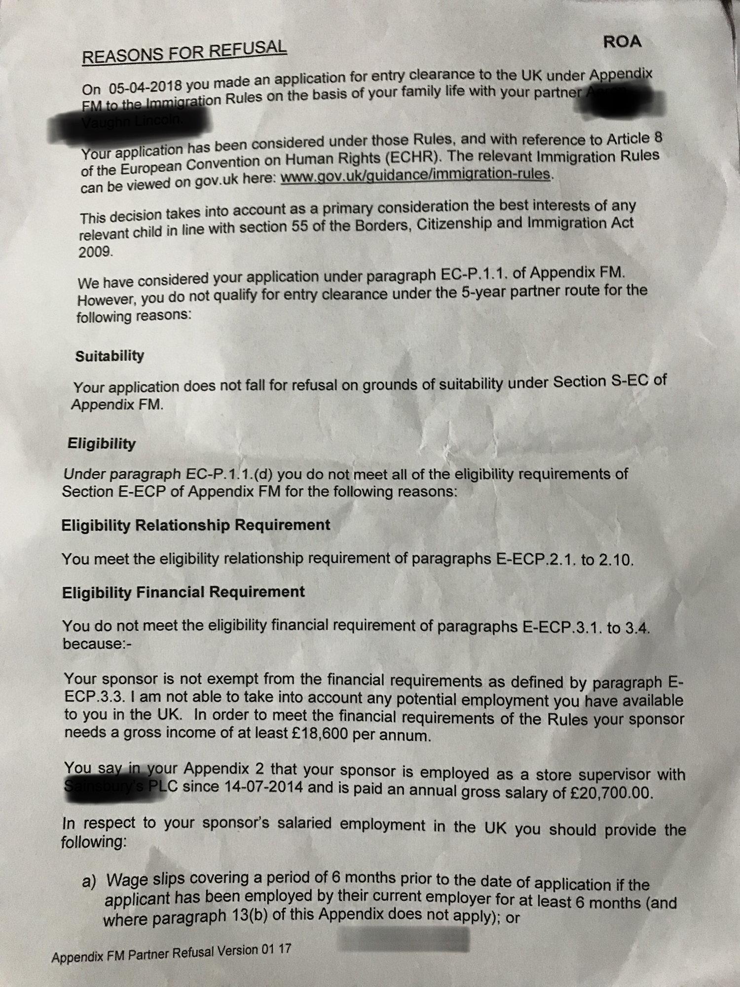 Visa refused :( help!! - British Expats