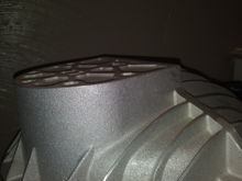 Its hard to take a good pic. This shot shows the condition of the cover and also the porous casting finish.