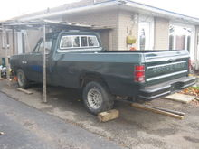 81 dodge d150 2wd with a 218