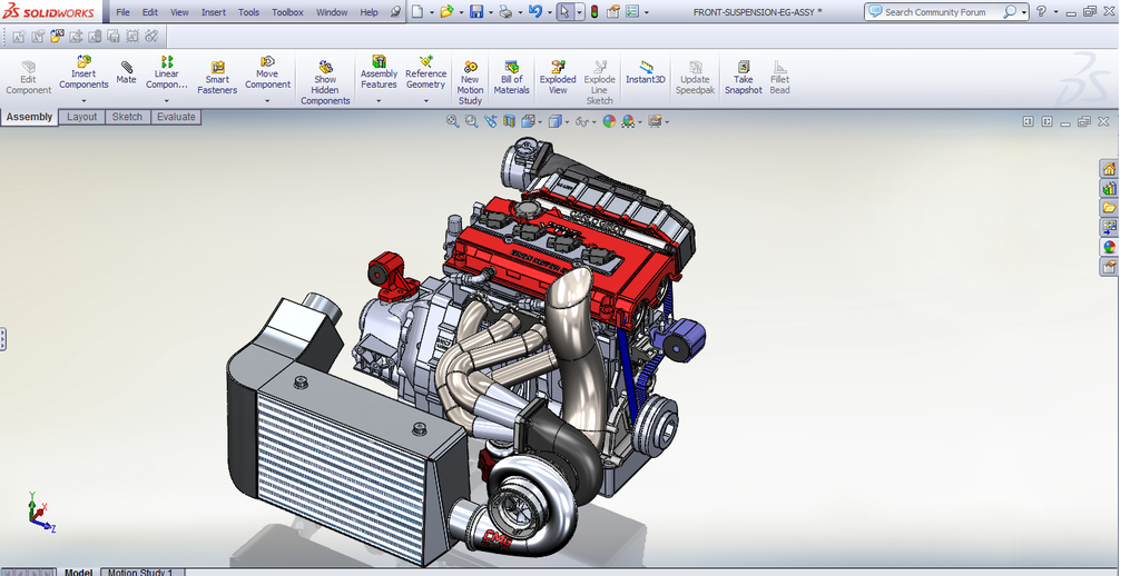 How To Build A V Engine In Solidworks