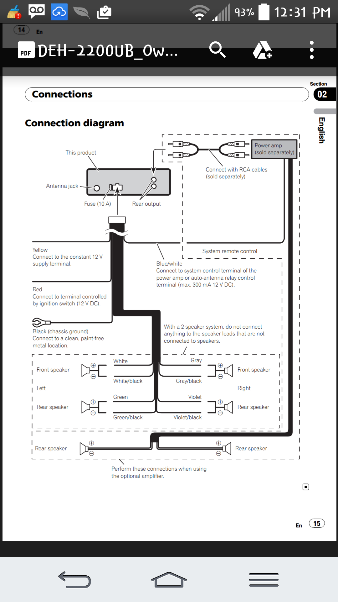pioneer deh 3200ub wiring diagram wiring diagram and hernes pioneer deh 3200ub research