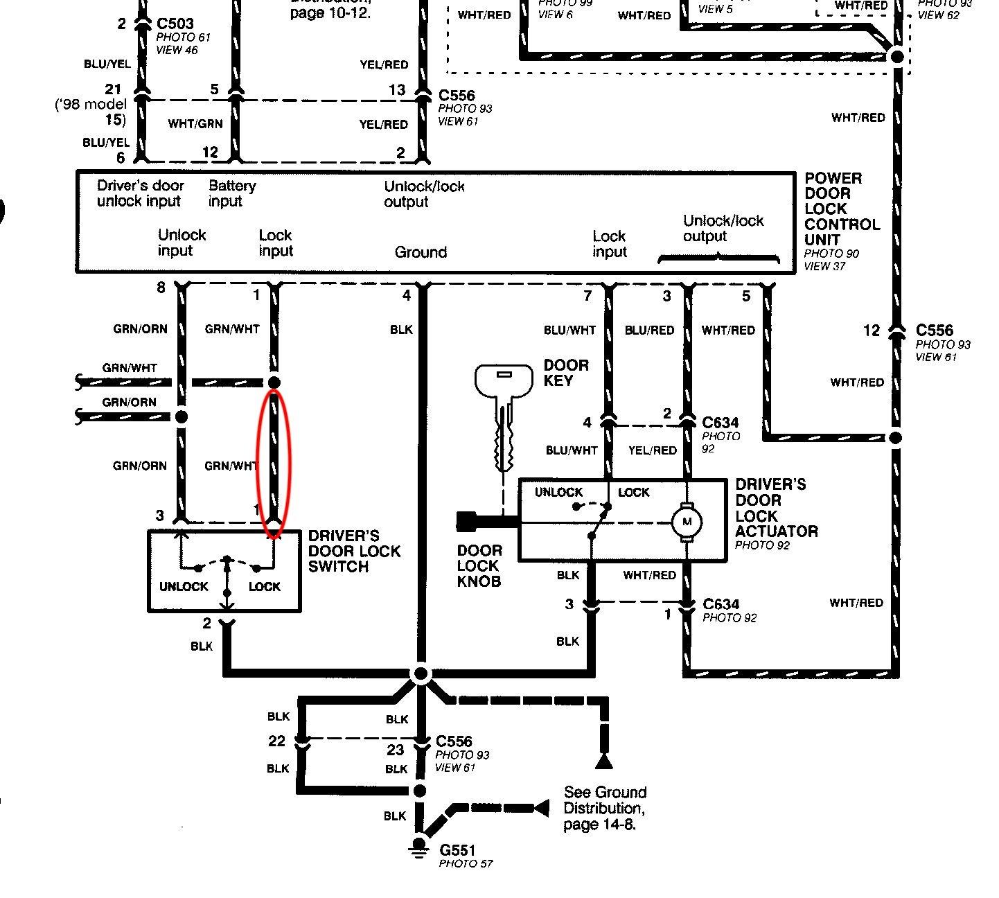 Help with understanding power door lock diagram - Honda-Tech - Honda Forum  DiscussionHonda-Tech