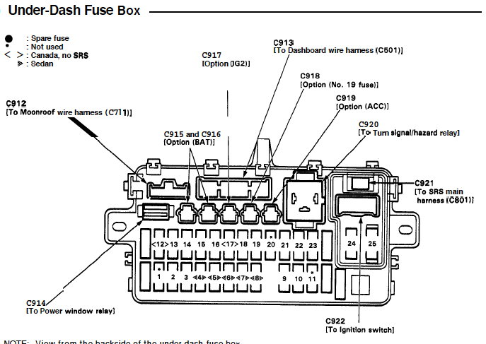 1994 Honda Civic Fuel Pump Wiring Diagram