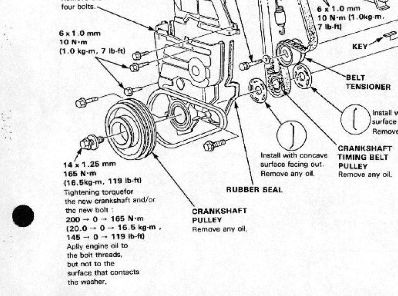 d16a6 crankshaft