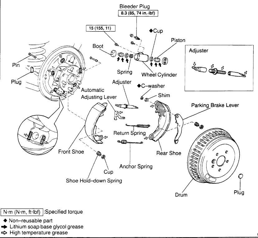 2002 Mercury Sable Rear Brake Diagram : Toyota sienna disc diagram imageresizertool