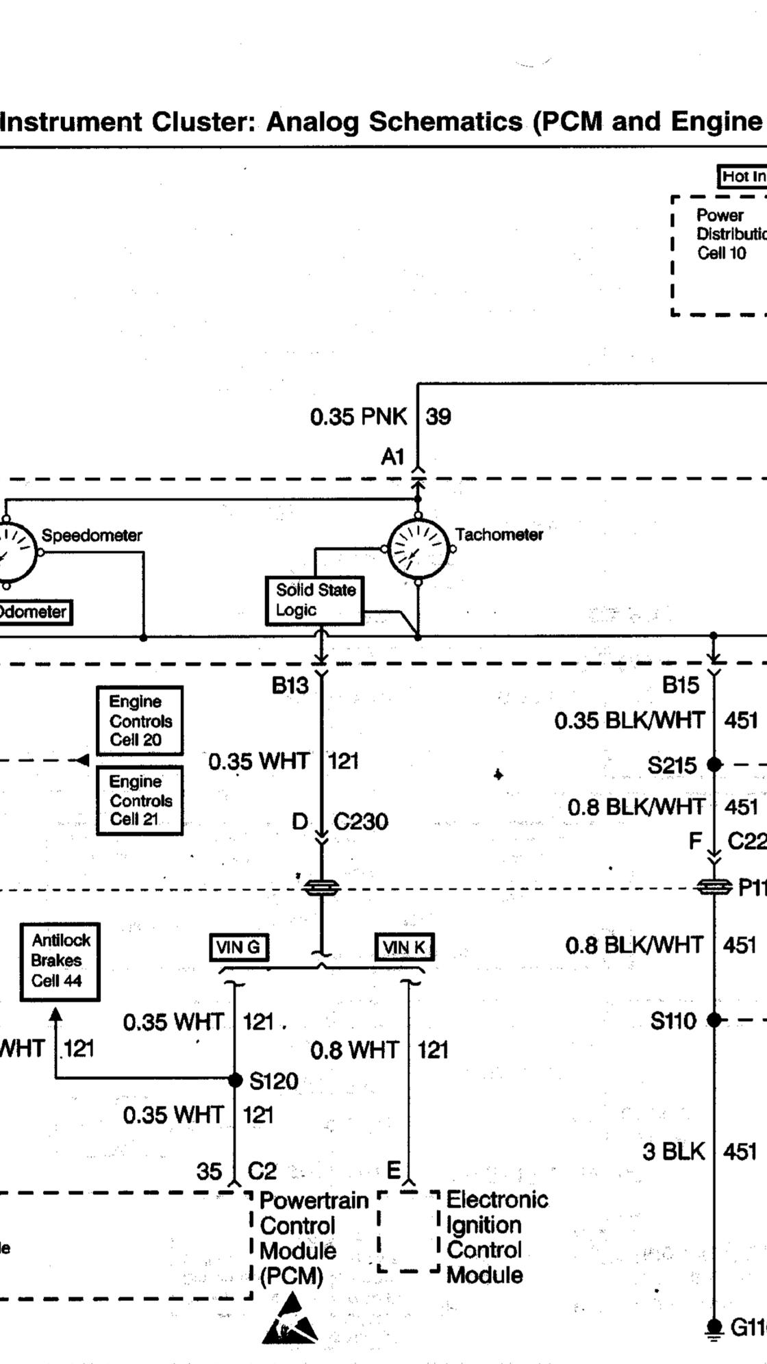 98 Camaro Sbc Swap Stock Tach Wiring - Ls1tech