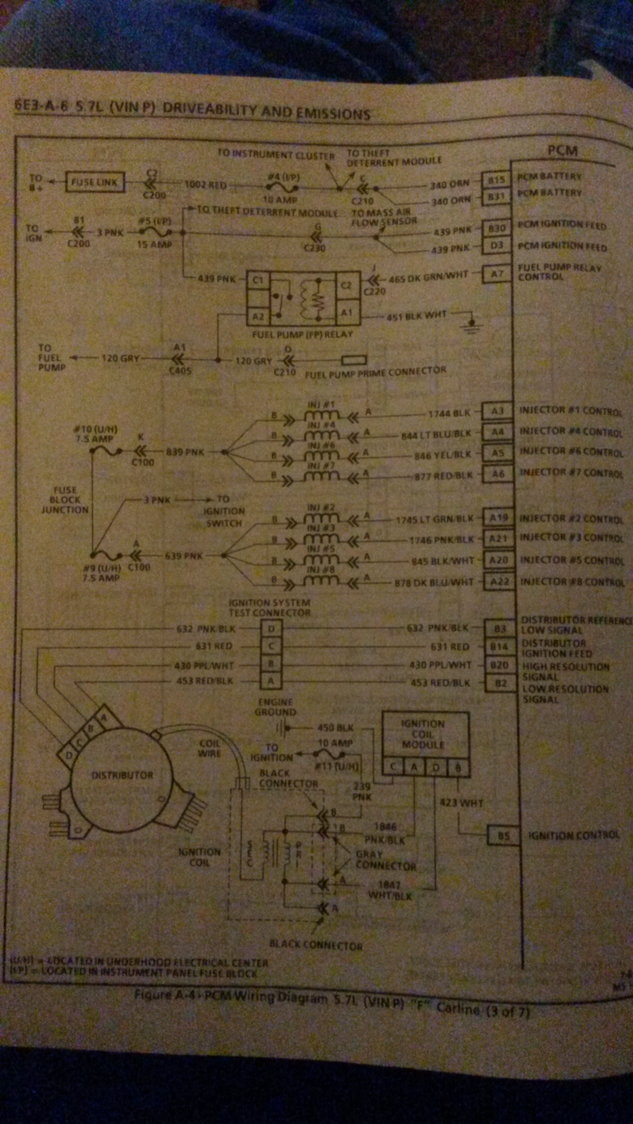need help 94 lt1 intermittent no start - LS1TECH - Camaro ...  Lt Coil Wiring Diagram on