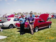 1997, me and my dad at another local car show event.