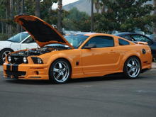 Took 1st Place at Saddleback Mustang Association's Mustang Car Show Sept. 7, 2008 - Modified class.
