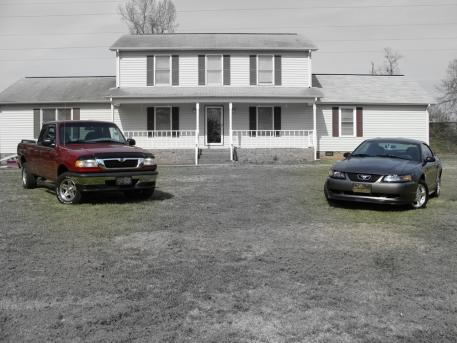 The Mazda (Basically Ford Ranger) and the Stang