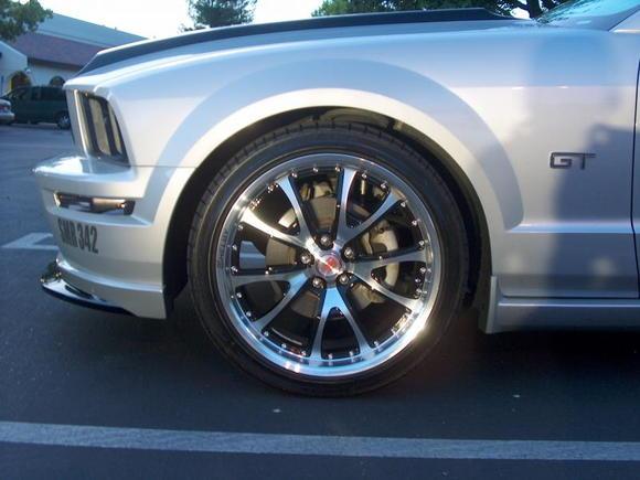carroll shelby cs40 wheels! firestone firehawk wide oval tires!