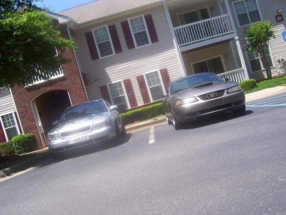 My audi and Stang