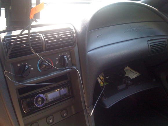 New radio has iphone input in the dash, and usb in the glove box.