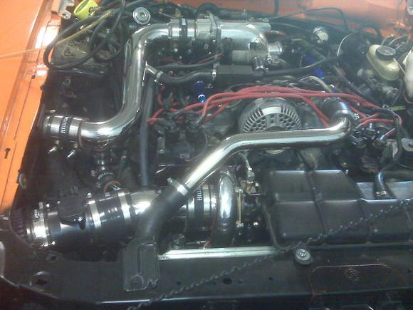 still in the shop day of 1st start after new motor and turbo