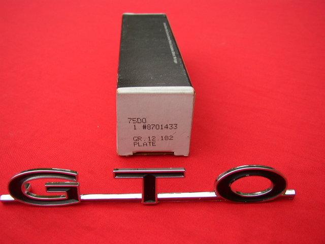 NOS 1964-1969 Pontiac GTO Trunk Emblem