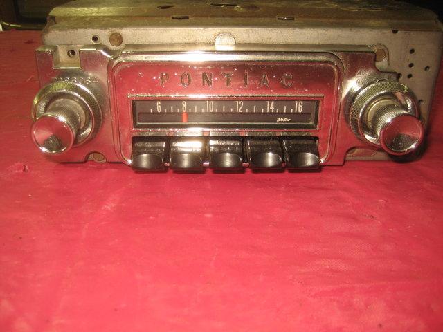 1965 Pontiac GTO, Lemans, Tempest AM radio