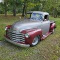 1947 Chevy Thrifmaster PU Sits on a 73 International 4wd PU