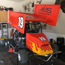 Open outlaw kart with trailer and 4 wheeler