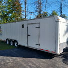 Enclosed 28' car trailer