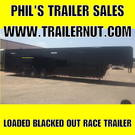 40 LOADED GOOSENECK RACE TRAILER CONTINENTAL CARGO