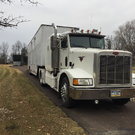 1992 Peterbilt and 40' low deck van trailer