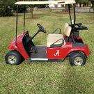 Electric EZ GO Golf Cart Custom Painted Alabama Red Roll Tid