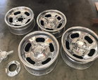 Original Halibrand Polished Aluminum Rims  Set of Four -- Fr  for sale $3,650