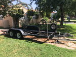 16-foot dual-axle open trailer