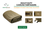 18 oz. Heavy Duty 100% Cotton Canvas Tarpaulins  for sale $39.50