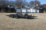 Used 2015 16' Diamond Plate Floor Car Trailer