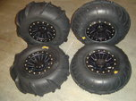 UTV / ATV Sand tires with aluminum wheels