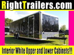 IN STOCK - 28' Continental Cargo BLACK Race Trailer