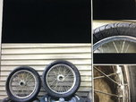 Spindle mount spoke wheels and tires  for sale $300