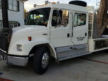 2000 Fl70 crew cab  3126b 300hp cat 6 speed manual tran