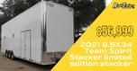 2021 8.5X34 Team Spirit Stacker limited edition stacker
