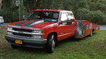 1992 Chevy crewcab car hauler Hodges flatbed