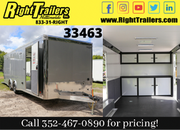 2021 8.5x24 Bravo Trailer with Premium Escape Door