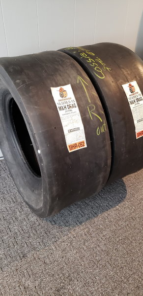 (2) M&H Racemaster Tires 10.5/28.5-15  for Sale $425