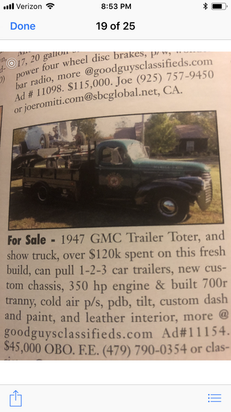 47 GMC Trailer Toter