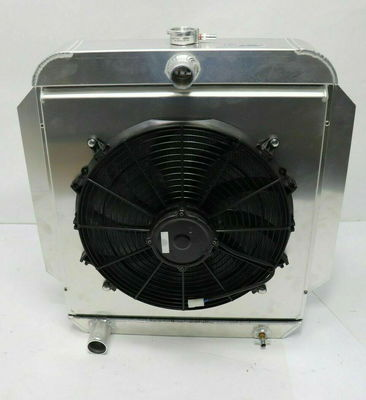 AFCO RADIATOR with FAN and SHROUD 1953-56 Ford Truck Aluminu