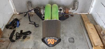 Garrett twin 88mm turbos, 106, 96 AR T6 undivided