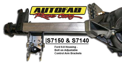 Autofab 8.8 Ford Bolt Adjustable Control Arm Brackets w/ Arm