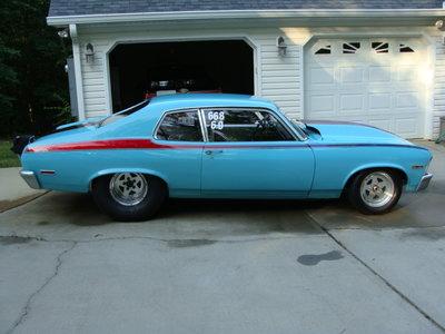 1973 Nova rolling no motor or trans