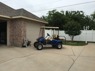 LIFTED  GOLFCART